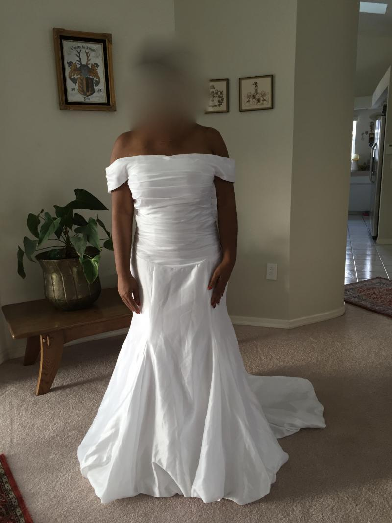 wedding gown before