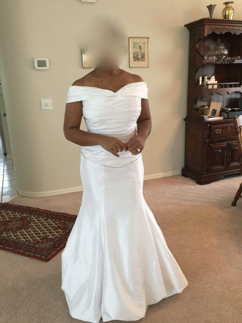 wedding gown after
