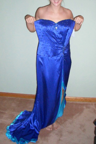 blue gown before